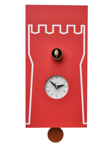 Cuckoo clock, red Cucu Torre