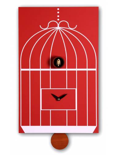 Cuckoo clock, red Cucu Gabbia
