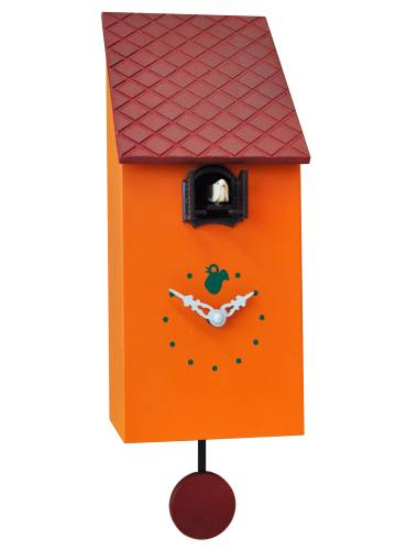 Cuckoo clock, orange Cucu Portofino