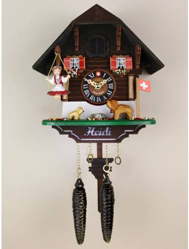Quartz Cuckoo clock Swinging Heidi