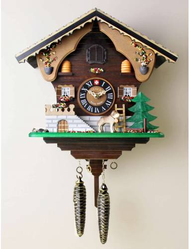 Quartz Cuckoo clock, St Bernard and the Beehives