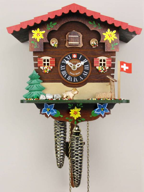 Alpine Flower Chalet Cuckoo clock