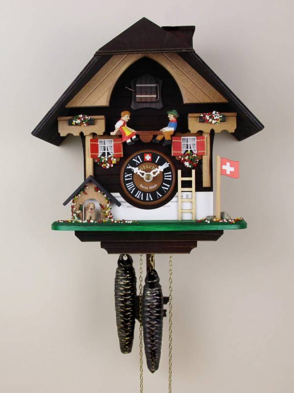 Seesaw and puppy, Cuckoo clock