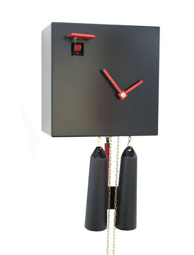 Classic in a cube, black Cuckoo clock