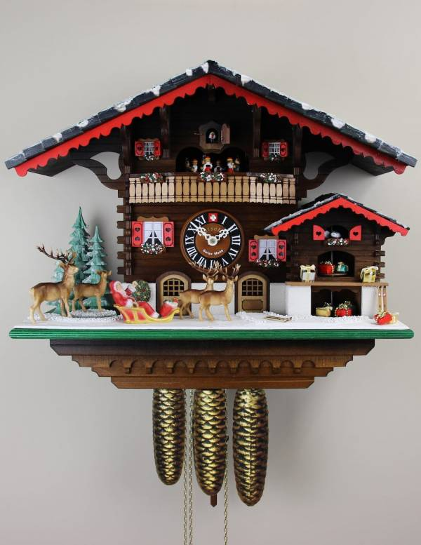 The Christmas Chalet Cuckoo clock