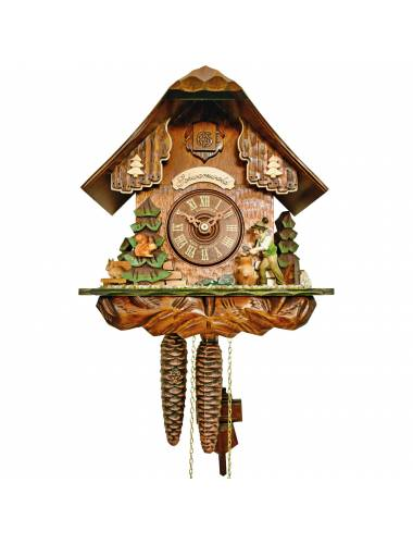 Cuckoo clock with Forest scene