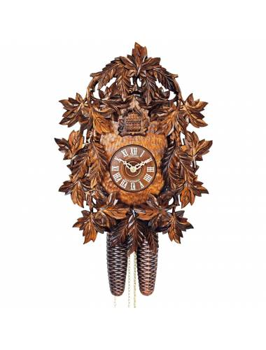 Heavily carved Cuckoo clock with hand painting