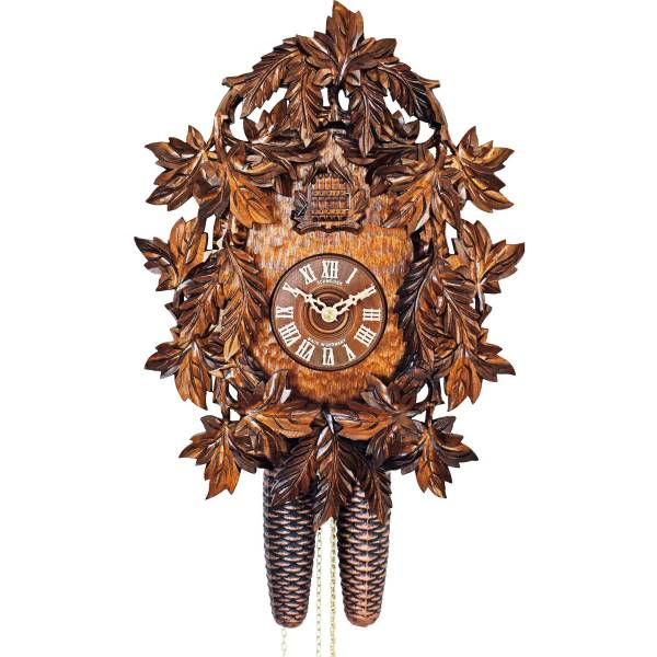 Hand painted heavily carved Cuckoo clock