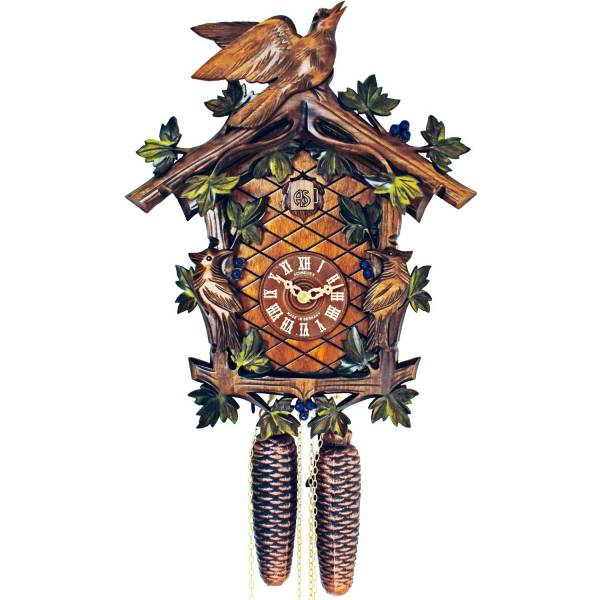 8 day hand painted Cuckoo clock with Woodpeckers