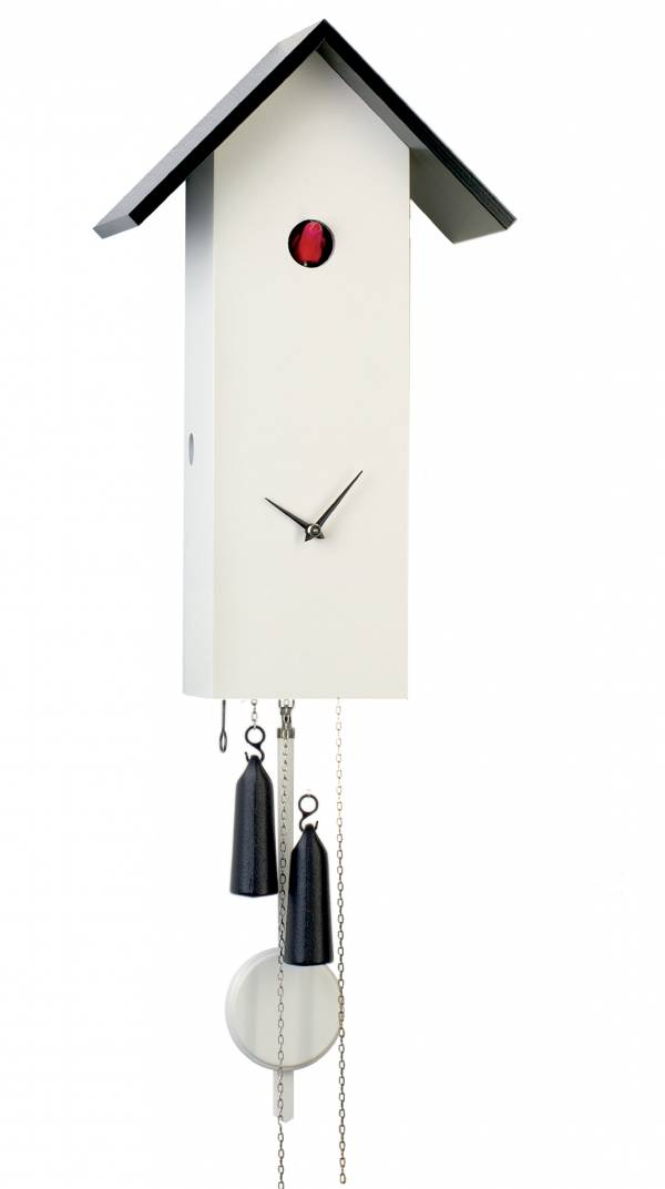 Simple line Cuckoo clock in white