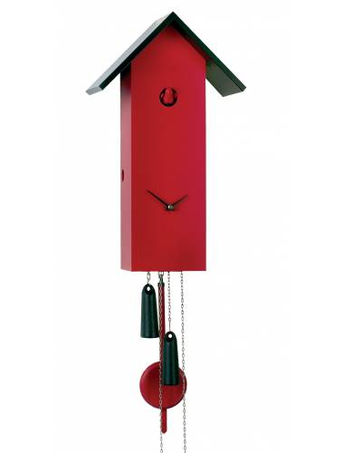Simple line Cuckoo clock in red