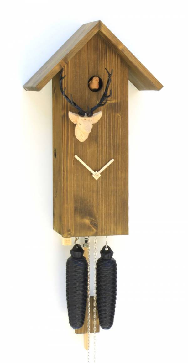 Simple line birdhouse style Cuckoo clock