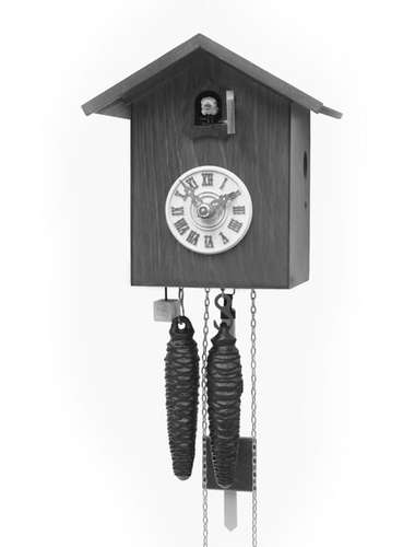 Simple design, black Cuckoo clock