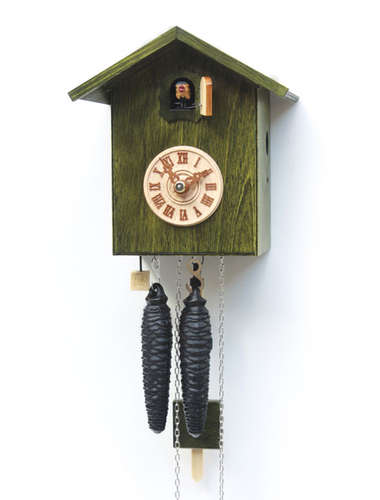 Simple design, green Cuckoo clock