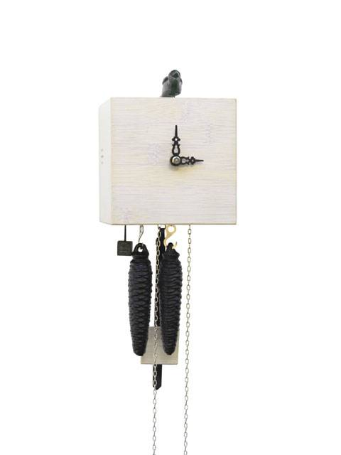 Free as a bird, white Cuckoo clock