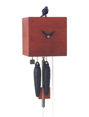 Free as a bird, red Cuckoo clock