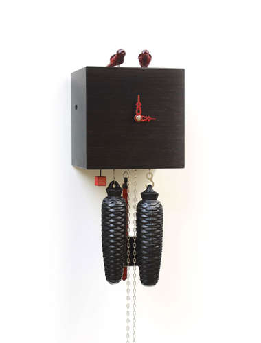 Free as a bird, black Cuckoo clock