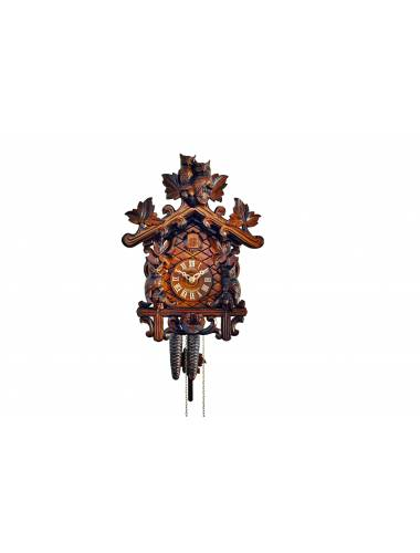 Traditional Cuckoo clock with carved Owls