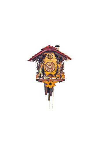 Hunter style Cuckoo clock with red roof