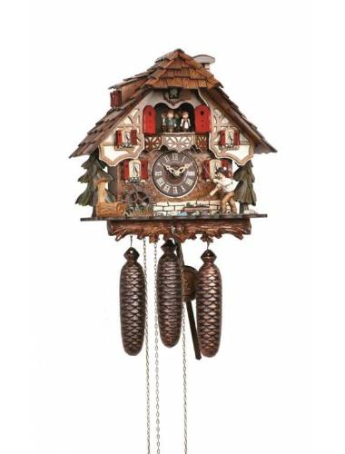 Cuckoo clock with Fisherman