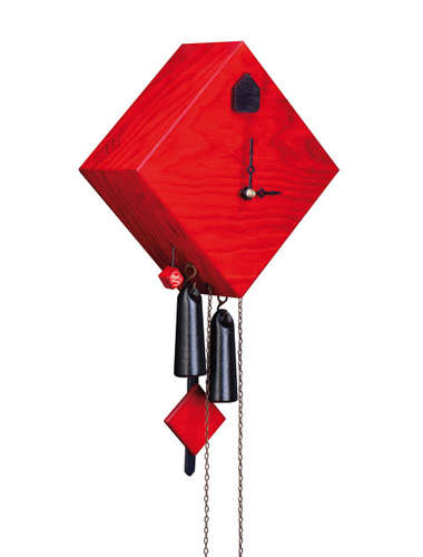 Square diamond, red Cuckoo clock