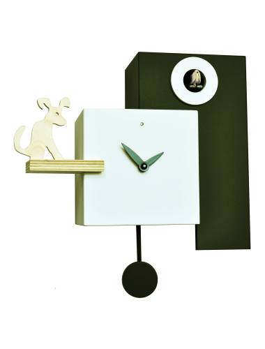 Black and white Cucu The Guardian, Cuckoo clock