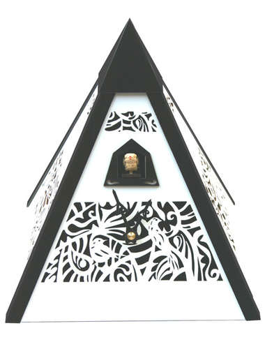 Pyramid Time, white Cuckoo clock