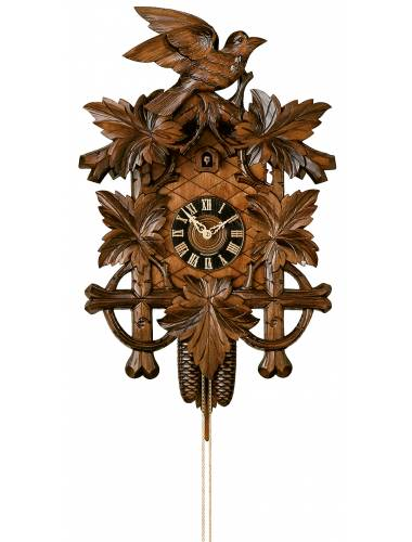 Hand carved Bird and leaves, Cuckoo clock