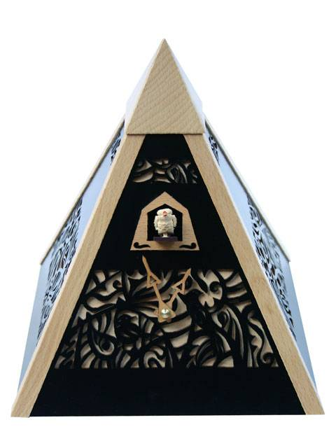 Pyramid Time, black Cuckoo clock