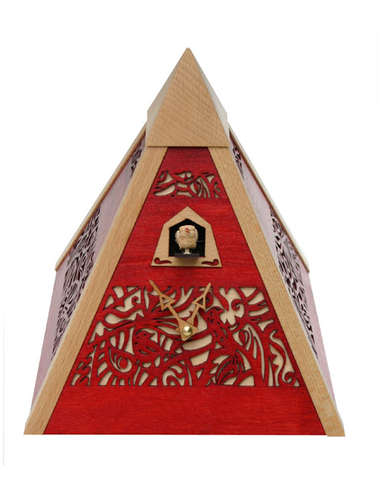 Pyramid Time, red Cuckoo clock