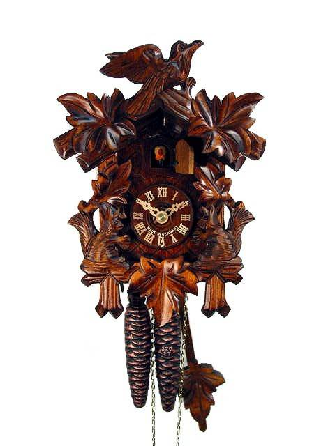 Cuckoo clock with carved Squirrel