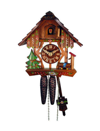 White fascia Timber frame Cuckoo clock