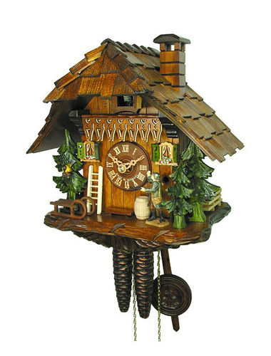 Cuckoo clock in the style of a Black Forest Chalet