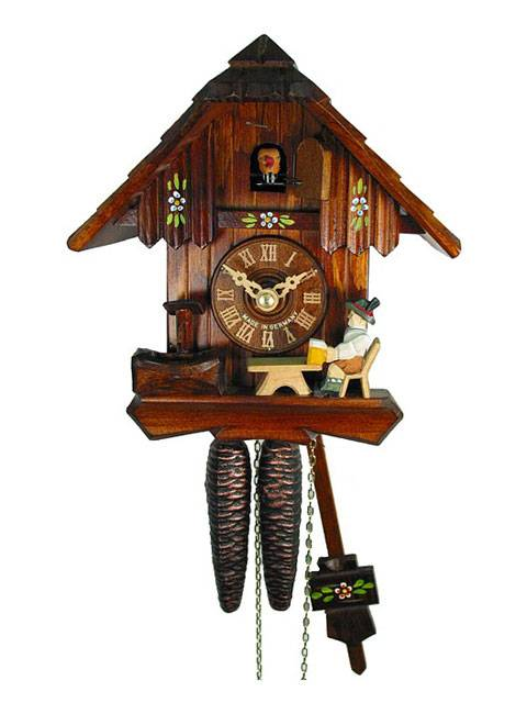 Bavarian style Cuckoo clock with Beer drinker
