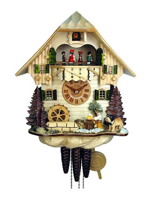 Beer drinker Cuckoo clock in a natural finish