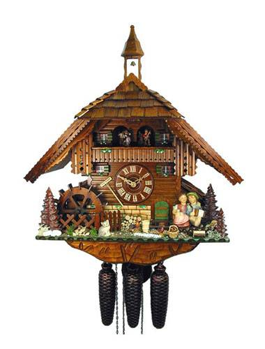 Cuckoo clock with kissing couple