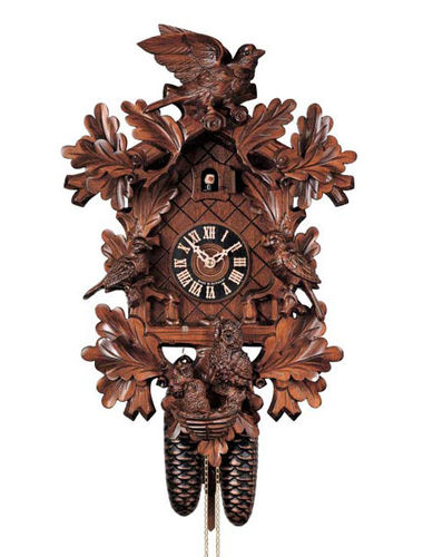 Large Cuckoo clock with nesting birds