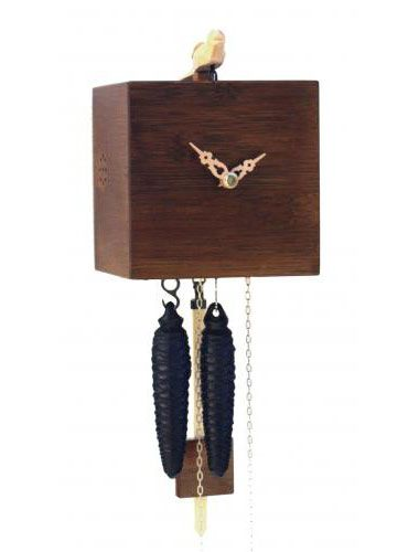 Free as a bird, brown Cuckoo clock
