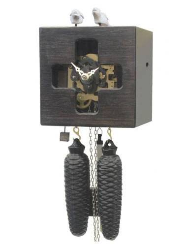 Free as a bird with window, black Cuckoo clock