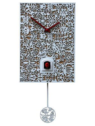 Quartz Elegance, white Cuckoo clock
