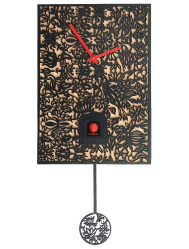 Quartz Elegance, black Cuckoo clock