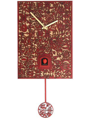 Quartz Elegance, red Cuckoo clocks