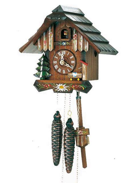 Small chalet clock