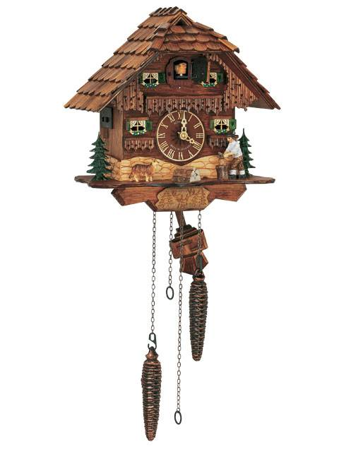 Bavarian house Cuckoo clock with woodchopper
