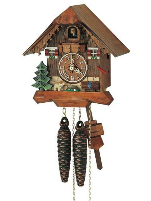 Cuckoo clock with pets