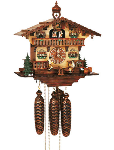 Bavarian style Cuckoo clock with Beer drinkers