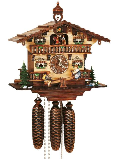 Bavarian House with children on See-Saw