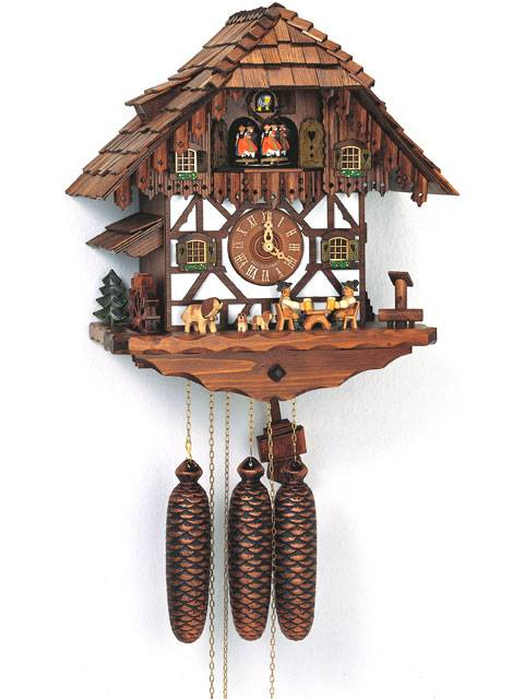 Cuckoo clock with Beer drinkers