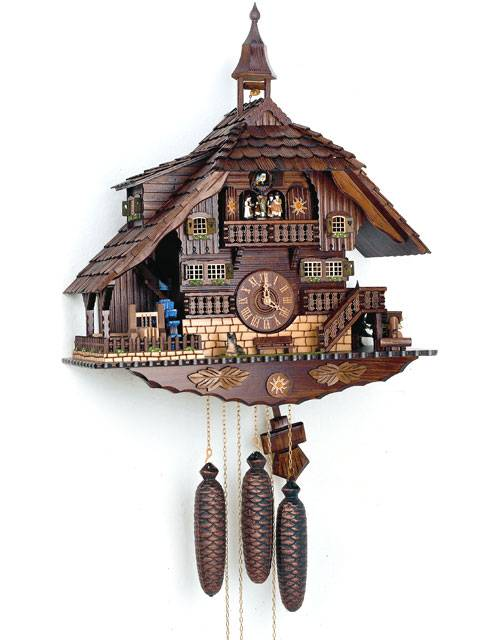 Large Cuckoo clock with Saw Mill
