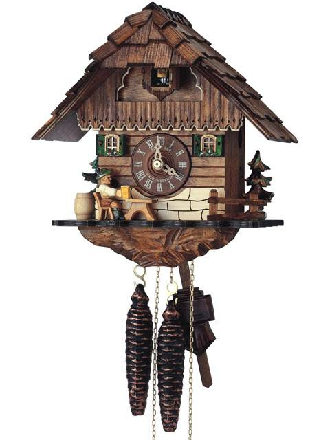 Small Cuckoo clock with Beer drinker